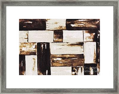 Woven Basket Framed Print by Marsha Heiken