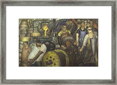 Wpa Mural. New Deal By Charles Wells Framed Print by Everett