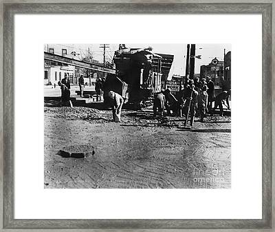 Wpa: Road Construction Framed Print by Granger