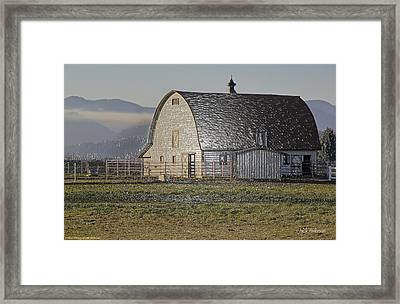 Framed Print featuring the photograph Wrapped Barn by Mick Anderson