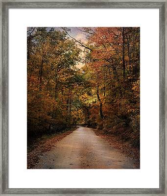 Wrapped In Autumn Framed Print by Jai Johnson