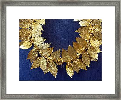 Wreath Oak-leaves Framed Print by Andonis Katanos