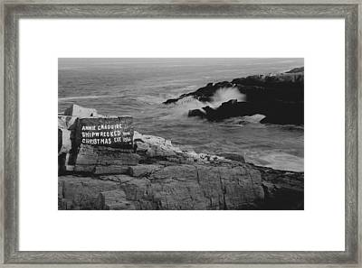 Wreck Site Framed Print by Rick Frost