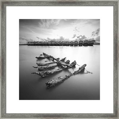 Wreck Framed Print by Teerapat Pattanasoponpong