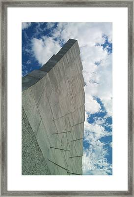 Framed Print featuring the sculpture Wright Brothers Memorial by Tony Cooper