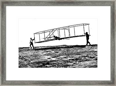 Wright Brothers Start Glide Litho Framed Print by Padre Art