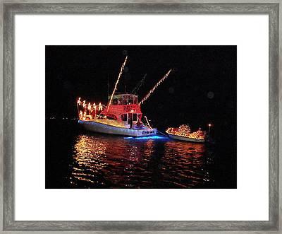 Wrightsville Beach Flotilla Framed Print