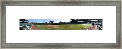 Wrigley Field Panorama Framed Print by David Bearden