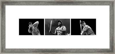Wrigley H O F Trinity Framed Print by David Bearden
