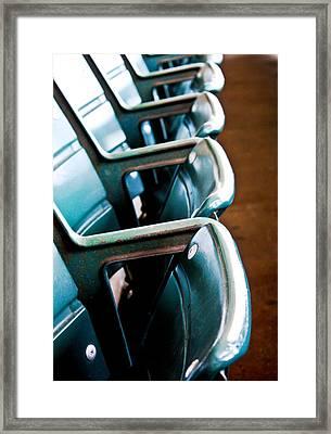 Wrigley Seats Framed Print