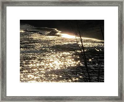 Write With Light Framed Print by Valia Bradshaw