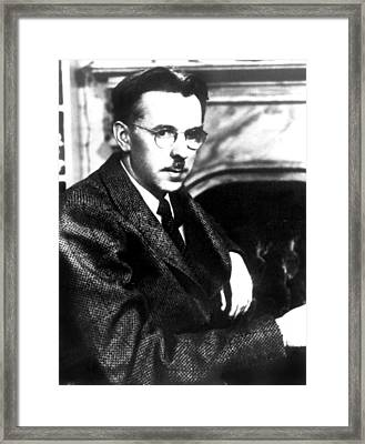 Writerauthor James Thurber, C. Late Framed Print