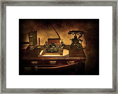 Writers Desk Framed Print by Svetlana Sewell