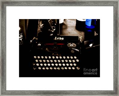 Writing Back To The German Forties Framed Print by Steven Digman