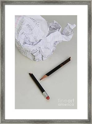 Writing Mistake Framed Print by Photo Researchers, Inc.