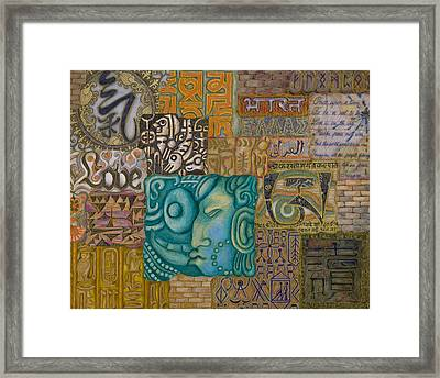 Writings Framed Print