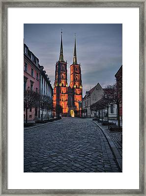 Wroclaw Cathedral Framed Print by Sebastian Musial