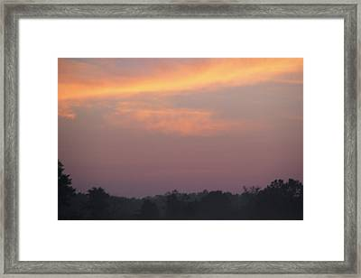 Wrong Turn Sunrise At 85 Framed Print