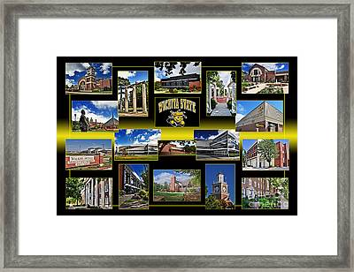 Wsu Collage Framed Print
