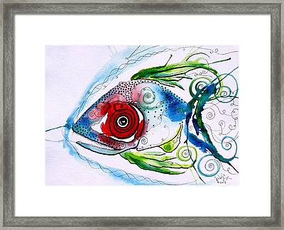 Wtfish 001 Framed Print by J Vincent Scarpace
