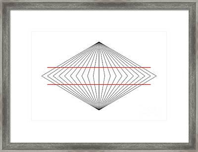 Wundt Illusion Framed Print