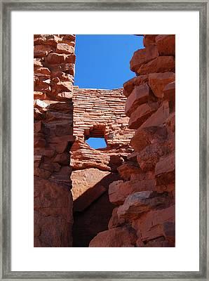Wupatki Walls And Windows Framed Print