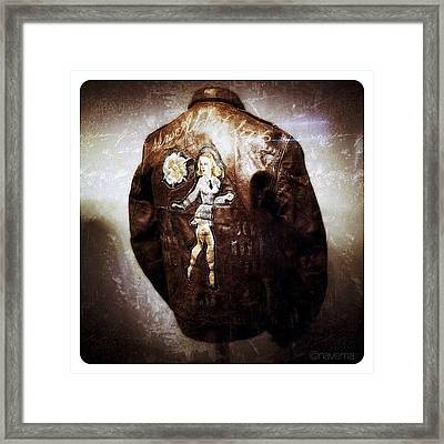 Ww2 B-17 Bomber Jacket mrs. Aldaflak Framed Print