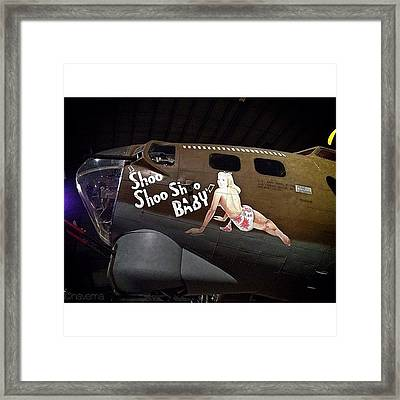 Ww2 Boeing B-17g Flying Fortress shoo Framed Print