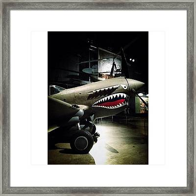 Ww2 Curtiss P-40e Warhawk Framed Print