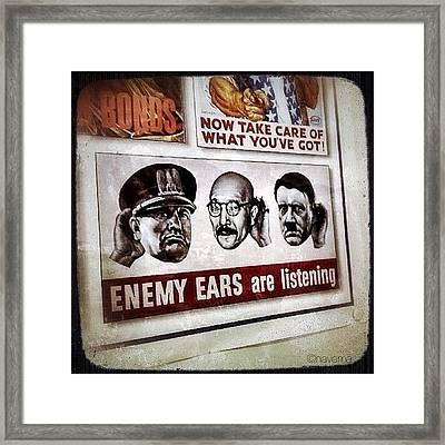 Ww2 Propaganda Framed Print