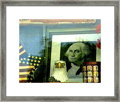 Wwgd - What Would George Do Framed Print by Joe Jake Pratt