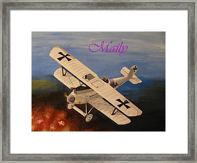 Wwi Aplane Framed Print by Maily
