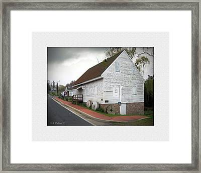 Wye Mill - Street View Framed Print by Brian Wallace