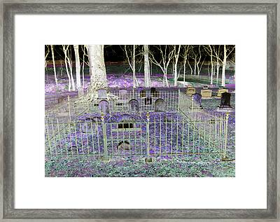 Wye Mills Cemetery Framed Print by Brian Wallace