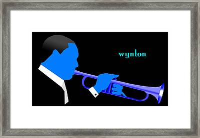 Wynton Marsalis Blue Framed Print by Victor Bailey