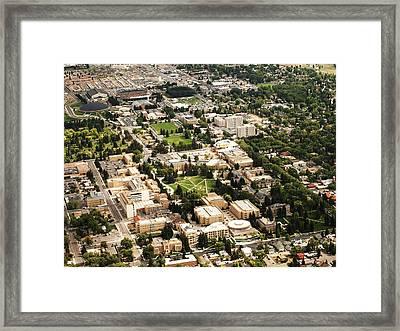 Wyoming Campus Aerial Framed Print