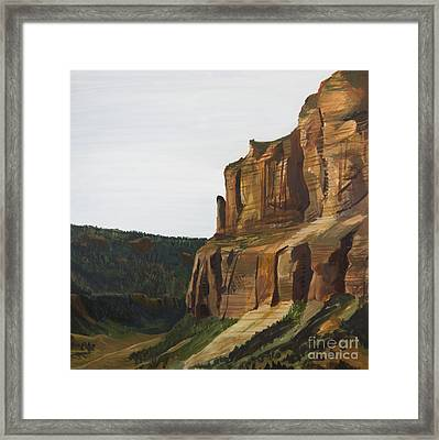 Wyoming Cliffs Framed Print