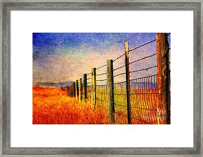 Wyoming Fences Framed Print