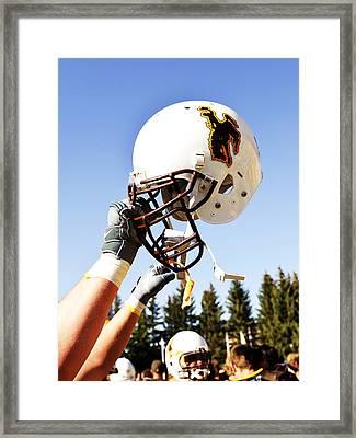 Wyoming Helmet Framed Print by Univesity of Wyoming