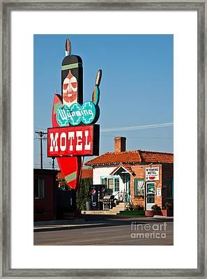 Wyoming Motel Framed Print