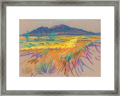 Wyoming Sketch Framed Print by Donald Maier