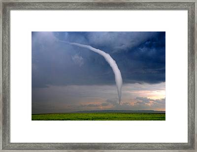 Wyoming Tornado Framed Print by Tony Laubach