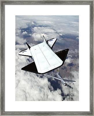 X-43b And B-52 Aircaft Framed Print