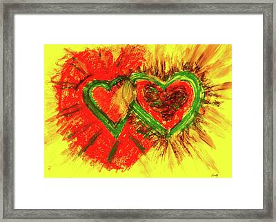 X Equals X Framed Print by Carolyn Olney