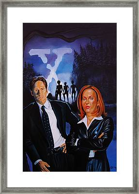 X Files Forest Encounter Framed Print