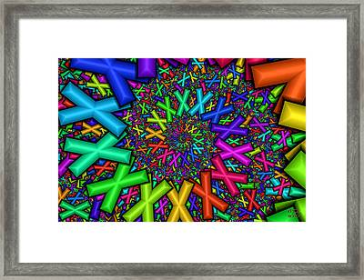 X Marks The Spot  Framed Print by Manny Lorenzo