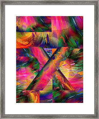 X Marks The Spot Framed Print by Paula Ayers