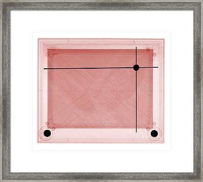 X-ray Of Etch A Sketch Framed Print by Ted Kinsman