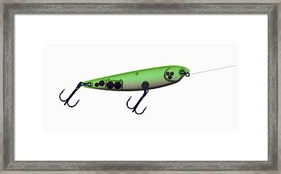 X-ray Of Fishing Lure Framed Print by Ted Kinsman