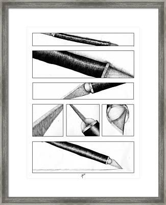 Xacto Knife Framed Print by Kenya Thompson
